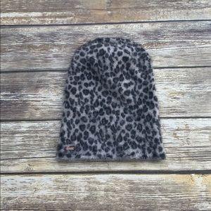 Free People Leopard Beanie